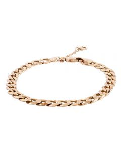Second Hand 9ct Yellow Gold Mens Flat Curb Chain Bracelet