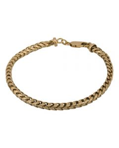 Second Hand 9ct Yellow Gold Cubed Link Bracelet