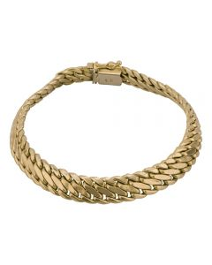 Second Hand 9ct Yellow Gold Fancy Double Curb Bracelet