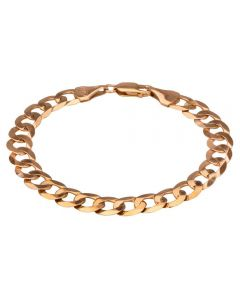 Second Hand 9ct Yellow Gold 7.5 Inch Flat Curb Chain Bracelet
