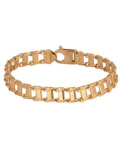 Second Hand 9ct Yellow Gold 8 Inch Fancy Bar Link Bracelet