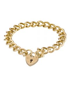 Second Hand 9ct Yellow Gold 7 Inch Curb Chain Bracelet