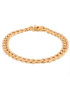 Second Hand 9ct Yellow Gold 7.5 Inch Curb Chain Bracelet