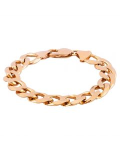 Second Hand 9ct Yellow Gold 6.5 Inch Curb Chain Bracelet
