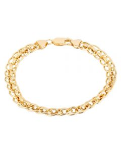 "Second Hand 9ct Yellow Gold 7"" Fancy Rollerlink Chain Bracelet HGM(29/01/02(05/19)"
