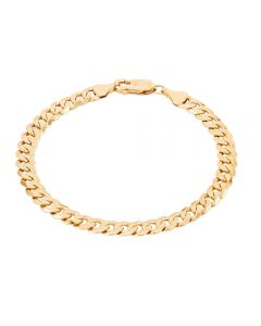 """Second Hand 9ct Yellow Gold 7.5"""" Curb Chain Bracelet HGM37/02/03(08/19)"""