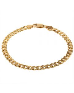 """Second Hand 9ct Yellow Gold 8.5"""" Flat Curb Chain Bracelet"""