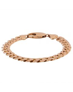 """Second Hand 9ct Yellow Gold 9"""" Heavy Curb Chain Bracelet"""