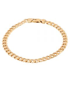 """Second Hand 9ct Yellow Gold 8"""" Curb Chain Bracelet T605521(457)"""