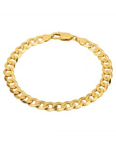 """Second Hand 9ct Yellow Gold 8"""" Curb Chain Bracelet HGM33/01/03(06/19)"""