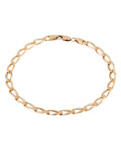 Second Hand 9ct Yellow Gold Long Curb Chain Bracelet N516981(459)