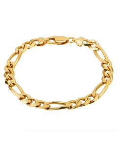"""Second Hand 18ct Yellow Gold 8"""" Figaro Chain Bracelet M325259(454)"""