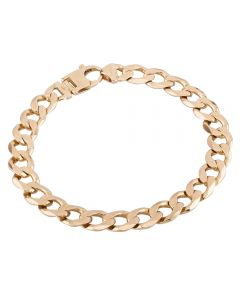 Second Hand 9ct Yellow Gold Curb Chain Bracelet HGM39/01/06(08/19)