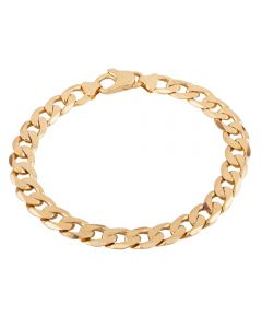 Second Hand 9ct Yellow Gold Curb Chain Bracelet HGM39/01/07(08/19)