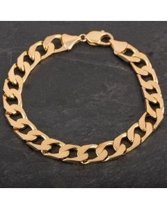 Second Hand 9ct Yellow Gold 9.5 Inch Heavy Curb Bracelet