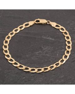 Second Hand 9ct Yellow Gold 8 Inch Curb Bracelet