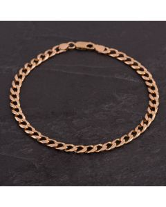 Second Hand 9ct Yellow Gold 9 Inch Curb Bracelet