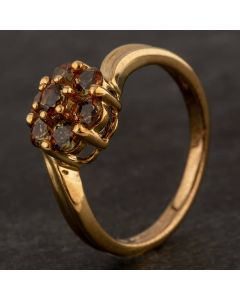 Second Hand 9ct Yellow Gold Andalusite Signet Ring