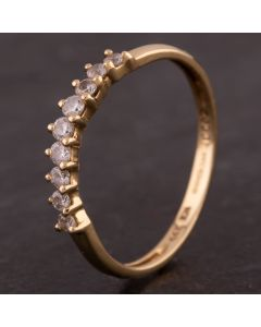 Second Hand 14ct Yellow Gold Cubic Zirconia Nine Stone Half Eternity Ring