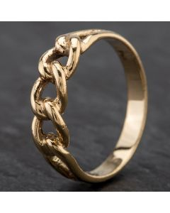 Second Hand 9ct Yellow Gold Curb Link Style Ring