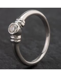 Second Hand 9ct White Gold Cubic Ziconia Ring