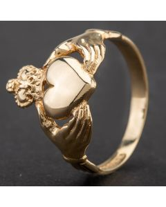 Second Hand 9ct Yellow Gold Claddagh Ring 4109423