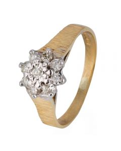 Second Hand 18ct Yellow Gold Diamond Cluster Ring