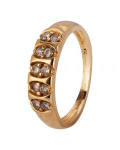 Second Hand 18ct Yellow Gold Diamond Ring 4111489