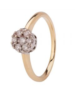 Second Hand 9ct Yellow Gold Diamond Cluster Ring