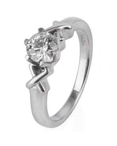 Second Hand 18ct White Gold Diamond Solitaire Ring
