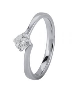 Second Hand Palladium 0.30ct Diamond Twist Solitaire Ring