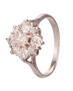 Second Hand 1.35ct Old Cut Diamond Cluster Ring