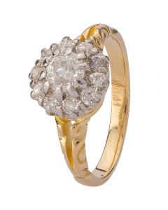 Second Hand 0.50ct Old Cut Diamond Cluster Ring