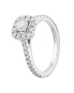 Second Hand 14ct White Gold Diamond Halo Cluster Ring H511048(452)