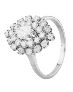 Second Hand 14ct White Gold 1.50ct Diamond Marquise Cluster Ring LOT542(06/19)
