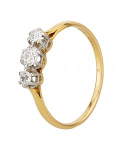 Second Hand Old Cut 0.50ct Diamond Trilogy Ring