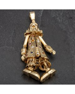 Second Hand 9ct Yellow Gold Large Multi Stone Set Clown Loose Pendant 4114263