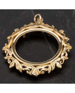 Second Hand 9ct Yellow Gold Full Sovereign Fancy Pendant 4114285