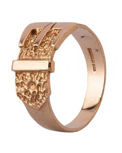 Second Hand 9ct Yellow Gold Buckle Ring D.380216(389)