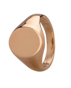 Second Hand 9ct Yellow Gold Mens Plain Oval Signet Ring