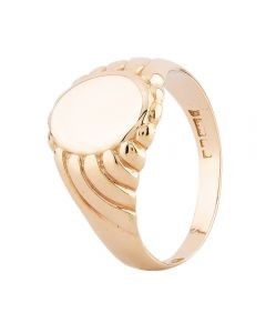 Second Hand 9ct Yellow Gold Oval Signet Ring F606061(451)