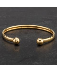 Second Hand 9ct Yellow Gold Torque Bangle 4121190