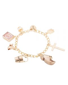 Second Hand 9ct Yellow Gold Charms and Charm Bracelet 4123843