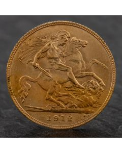 Second Hand King George 1912 Half Sovereign Coin