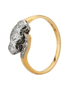Second Hand Yellow Gold Diamond Trilogy Ring D600602(453)
