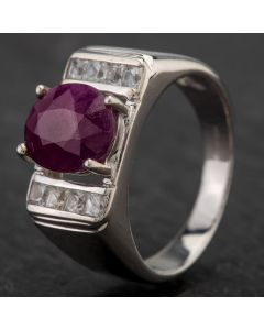 Second Hand White Gold Sapphire Ring 4134137