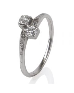 Second Hand Crossover Diamond Ring 4148603