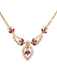 Second Hand Ruby and Diamond Decorative Necklet