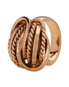 Second Hand Yellow Gold Woven Dress Ring A511606(441)