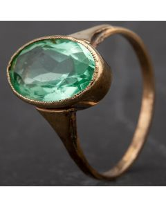 Second Hand Oval Green Paste Stone Dress Ring 4163253